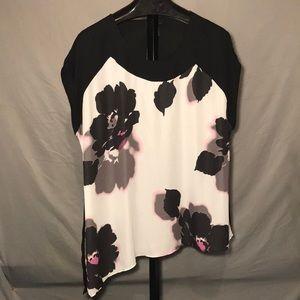 Lane Bryant 22/24 tag asymmetrical top blouse